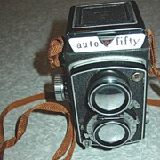 REDUCED Ricoh Auto Fifty TLR Camera Twin Lens Reflex Ricoflex Synchro Mx
