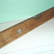 "REDUCED Chapin Stephens C.S. Co. 28"" Wood Level Pine Meadow Conn. No 490� Brass ..."
