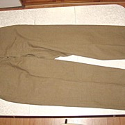 REDUCED Military Trousers Field Wool Korean War 1950 Size 32X31 Pants 1945 Serge 18 Oz.