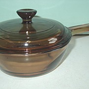 REDUCED Corning Vision .5L Amber Glass Saucepan with Pyrex Cover