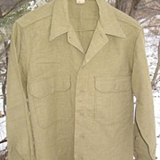 REDUCED U.S. Military WWII Wool Shirt Size 14 1/2X32 Army Green Uniform
