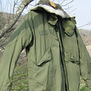 Military Vietnam War Parka Fishtail Extreme Cold Weather M-65 Liner Hood Small 1972