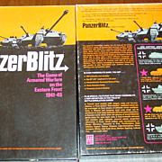 REDUCED Panzer Blitz Avalon Hill WWII Board Game Tank Armored War Battle 1970 Bookcase Unused