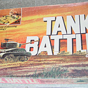 REDUCED Tank Battle Milton Bradley Board Game WWII War Battle Strategy 1975 Army Warfare