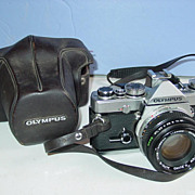 REDUCED Olympus OM-1 Camera 35mm Film SLR with 50mm Zuiko Lens & Case