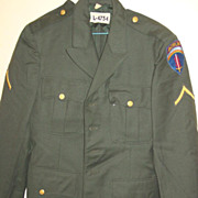 Military Army Green Wool Serge Uniform Coat Jacket Berlin PFC Class A Enlisted 1957
