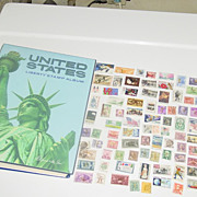 United States Harris Liberty Postage Stamp Album 1978 with 400 Stamps