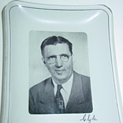 Signed Photograph Ashtray Advertising Life Insurance Williamsport Pa Clyde Bastian Photo