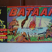 Bataan The Battle of the Philippines Milton Bradley WII Game 1942 War Board