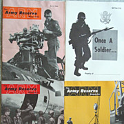 3 Military The Army Reserve Magazine Vietnam War Era & Once a Soldier 1960s Issues