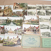 Valentine�s Post Cards Shakespeare Country & Castles of England Snapshots Souvenir Sets