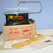 BVI Saber Jet Jig Saw Model JS 180-A Burgess Vibrocrafters Box Instructions Patterns 1955