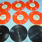 9 Walt Disney Official Mickey Mouse Club Records Newsreel Phonograph