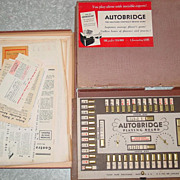 Autobridge Solitaire Contract Bridge Card Playing Game Board Beginners 1949