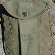 Military WWII Entrenching Tool Cover 1944 Arnold Mfg Co Canvas for Folding Shovel