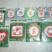 REDUCED 10 Cross Stitch Kits Dale Burdett Christmas Teddy Bear & Stitch N Frame Pirates