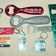 Beer Bottle Can Openers & Keychain Wisconsin Dells OKeefe Fort Pitt Labatts Bud