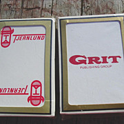 Grit Newspaper Magazine & Tjernlund Gemaco Playing Cards Poker Bridge Deck Advertising