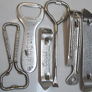 Bottle Paint Can Openers Beer Cap Seven UP Soda Statler Hotel Coors Ballantine