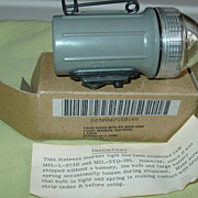 Military Distress Light Marker Flashing Flashlight in Box 1986 US Opticon New London Ct.