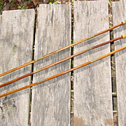 3 Wood & Brass Shotgun Cleaning Rods 2 Tips Gun Bore Brush