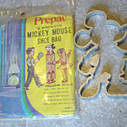 Mickey Mouse 6 Pocket Shoe Bag Walt Disney Productions Sealed & Aluminum Mold