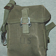 Vietnam War Era Small Arms Ammunition Case M14 Rifle Ammo Pouch Cotton Canvas