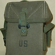 Small Arms Ammunition Pouch Vietnam War Era M14 Rifle Ammo Cotton Canvas Case 1959