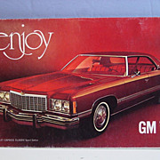 GM 74 General Motors 1974 Dealers Car Advertising Sales Book Chevrolet Buick