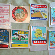 Alaska Map Hawaii Halifax Canada Auto Decals Florida Acadia Souvenir Water Transfers Car