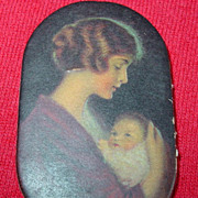 Prudential Insurance Co Pin Holder Newark N.J. Mother & Baby Child Advertising Premium