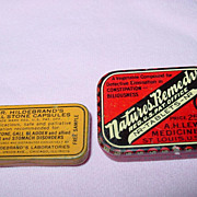 Dr. Hildebrand's Gall Stone Capsules Tin Sample & Natures Remedy Medicine Co.
