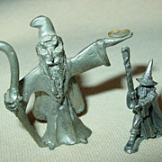 Wizard 1987 Sorcerer Miniature Pewter Figures