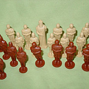 All the Kings Men Playing Pieces Chess Plastic Game Pieces King Knights Archers Parts