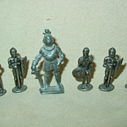 Pewter Knights Castle Guards Lead Miniature Figures