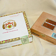Dominican Cigar Box Cheavon Dominicano Corona & Macanudo Portofino Cafe Wood
