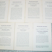 Rochester N.Y. History 7 Issues 1974-75 Obediah Dogberry Subway Erie Canal