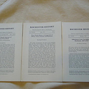Rochester N.Y. History 3 Issues 1977 Gold Rush Journal Water Works Socialism