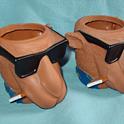 Joe Camel Cigarette Beer Can Holder Soda Pop Set Kool Buddies Smooth Character 1992