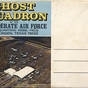 Confederate Air Force Post Card Folder Ghost Squadron Harlingen Texas Souvenir