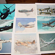 9 WWII Airplane Photo Prints Corair Black Sheep Squadron Confederate Air Force FiFi