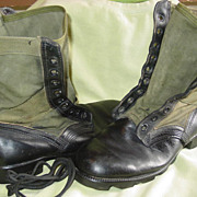 Military Jungle Boots Size 8W Spike Protective RO-Search Combat 1983 Used Pair