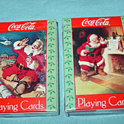 Coca Cola Playing Cards 2 Decks Christmas Santa Clause 1992 Nostalgia Edition Coke
