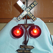 Railroad Crossing American Train Signal Flashing Light with Locomotive Sound as is