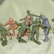 Toy Soldier WWII Marx German Japanese U.S. Marine Corps 5� Tall Large Figures Plastic ...