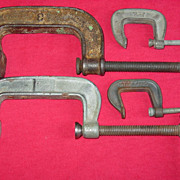 C Clamps Pony 231 & 243 Craftsman Malleable Drop Forged No 3 Tool Welding Woodworking