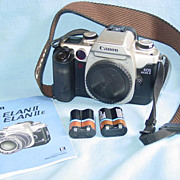 Canon EOS Elan II Camera Body 35mm Film SLR & Strap as is for Parts Instructions