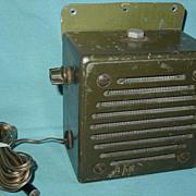 Military Army LS-166/U Radio Loudspeaker Vietnam War Era Pack Vehicle Jeep PRC-25
