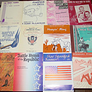 12 Piano Sheet Music Books Cowboy Star Spangled Banner Alamo Rawhide Lot Song