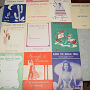 10 Piano Sheet Music Books Spanish Navajo Trail Wigwam Seminole Squaw Desert